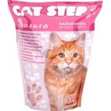 Cat Step наполнитель Сакура розовые гранулы, 3,8 лит.