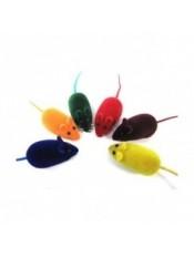 Мышь велюровая 6,5см пищит