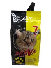 Brava Минерал для короткошерстных кошек, желтый, 7лит.