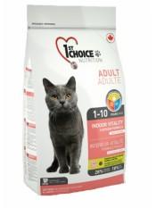 1st Choice для домашних кошек с цыпленком, Vitality, 2.72 кг.
