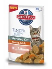 Hill's паучи для стерилизованных кошек, лосось, 85 гр.