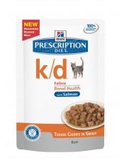 Hill's паучи для кошек  K/D, с лососем, 85 гр.