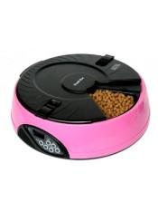 Feedex Автокормушка на 6 кормлений для сухого корма и консерв, розовая PF6B, артикул: 14051.роз
