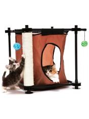 """Kitty City Игровой комплекс с когтеточкой для кошек """"Тайное укрытие"""", 44x45x45 см, сизаль, арт. 23058"""
