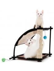 """Kitty City Игровой комплекс с когтеточкой для кошек """"Белая гора"""", 44x45x45 см, сизаль, арт. 23059"""