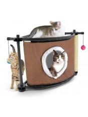 """Kitty City Игровой комплекс с когтеточкой для кошек """"Сонное царство"""", 44x45x45 см, сизаль, арт. 23061"""