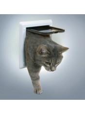 Дверца для  кошки ( 16,5см х 17,4см) белая арт. 16934