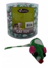 Зеленая мышка с погремушкой, плюш, 4,5 см.