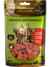 Деревенские лакомства Лакомство для собак мини-пород: ломтики крольчатины