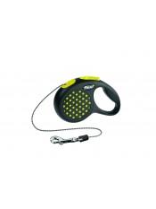Flexi Рулетка-трос для собак до 8 кг, 3 м, желтая, Design XS Cord 3 m, yellow, арт. 10841. жел