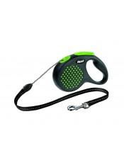 Flexi  Рулетка-трос для собак до 20 кг, 5 м, зеленая, Design M Cord 5 m, green арт. 10843.зел