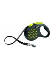 Flexi Рулетка-ремень для собак до 50 кг, 5 м, желтая, Design M-L Tape 5 m, yellow, арт. 10845.жел
