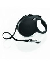 Flexi Рулетка-ремень для собак до 50кг, 8м, черная (New Classic L Tape 8 m, blak) арт 10857чер
