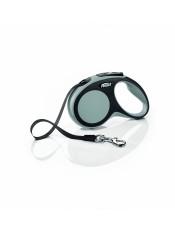 Flexi Рулетка-ремень для собак до 15кг, 5м, серая, New Comfort S Tape 5 m, grey, арт. 10853.сер