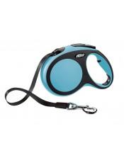 Flexi, Рулетка-ремень для собак до 60кг, 5м, синия, New Comfort L Tape 5 m, blue арт. 10855.син