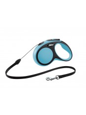 Flexi Рулетка-трос для собак до 12кг, 5м, голубая, New Comfort S Cord 5 m, blue, арт. 10848.син