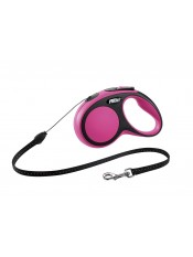 Flexi Рулетка-трос для собак до 12кг, 5м, розовая, New Comfort S Cord 5 m, pink, арт. 10848.роз