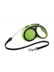 Flexi Рулетка-трос для собак до 12кг, 8м, зеленая, New Comfort S Cord 8 m, greenарт. 10849.зел