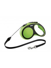 Flexi Рулетка-трос для собак до 20кг, 5м, зеленая, New Comfort M Cord 5 m, green арт. 10850.зел