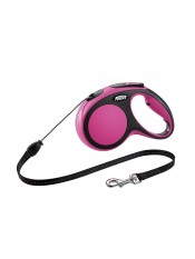 Flexi Рулетка-трос для собак до 20кг, 5м, розовая, New Comfort M Cord 5 m, pink арт. 10850.роз