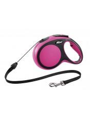 Flexi Рулетка-трос для собак до 20кг, 8м, розовая, New Comfort M Cord 8 m, pink арт.10851.роз