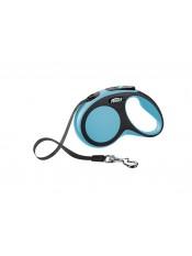 Flexi Рулетка-ремень для собак до 15кг, 5м, голубая, New Comfort S Tape 5 m, blue, арт. 10853.син