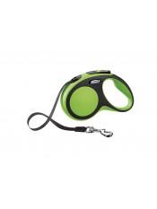 Flexi Рулетка-ремень для собак до 15кг, 5м, зеленая, New Comfort S Tape 5 m, green, арт. 10853.зел
