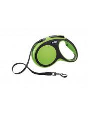 Flexi Рулетка-ремень для собак до 25 кг, 5м, зеленая, New Comfort M Tape 5 m, green, арт. 10854.зел