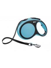 Flexi Рулетка-ремень для собак до 50кг, 8м, голубая, New Comfort L Tape 8 m, blue, арт. 10856.син