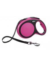 Flexi Рулетка-ремень для собак до 50кг, 8м, розовая, New Comfort L Tape 8 m, pink, арт. 10856.роз