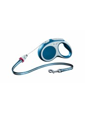 flexi Рулетка-трос для собак до 12кг, 5м, голубая, VARIO S cord 5m blue, артикул: 19255