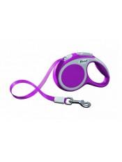 flexi Рулетка-трос для собак до 12кг, 5м, розовая, VARIO S cord 5m pink, артикул: 19255