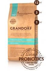Grandorf четыре вида мяса с бурым рисом для взрослых собак всех пород, 12 кг.