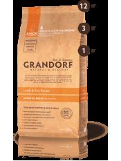 Grandorf корм для юниоров, ягнёнок с рисом, 12 кг.