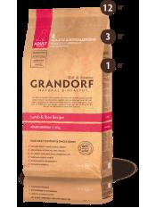 Grandorf корм для взрослых собак средних пород, ягнёнок с рисом, 12 кг.