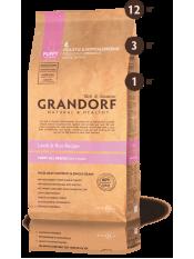 Grandorf корм для щенков, ягнёнок с рисом, 12 кг.