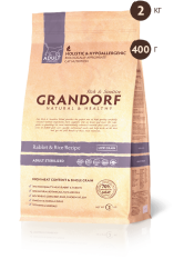 Grandorf корм для кошек кролик с рисом STERILISED, 400 гр.