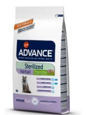 Advance для стерилизованных кошек, вывод шерсти, 1,5 кг.