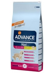 AdvanceMaxi +6, для пожилых собак, курица с рисом, 15 кг.