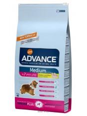Advance Medium +7, для пожилых собак, 12 кг.