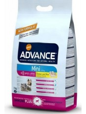 Advance Mini +8, для пожилых собак мелких пород, 3 кг.