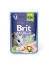 Brit Premium Кусочки из филе форели в желе паучи, 85 гр.