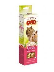 Little One. Палочки для хомяков, крыс, мышей и песчанок с воздушным рисом и орехами