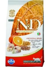Фармина для кошек N&D, рыба-апельсин, низкое содержание зерна, 5 кг.