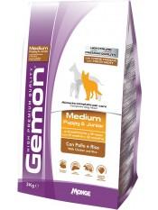 Gemon Dog Medium корм для щенков средних пород курица с рисом, 20кг.