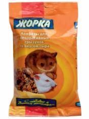 Жорка конфеты Сыр для грызунов, 2 шт., 100 г.