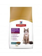 Hill's Sensitive Stomach & Skin корм для кошек, 5 кг.