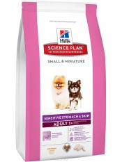 Hill's Small & Miniature Sensitive Stomach&Skin, 1,5 кг.