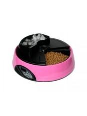 Feedex Автокормушка на 4 кормления для сухого корма и консерв, с емкостью для льда, розовая, PF1B, артикул: 14045.роз
