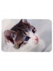 Коврик под миску (фото кошки), 43х28 см